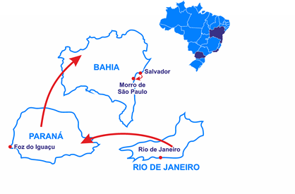 Mapa Le Brésil Tropical