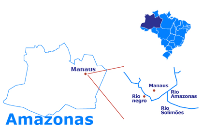 Mapa Amazonia - 3 days and 2 nights