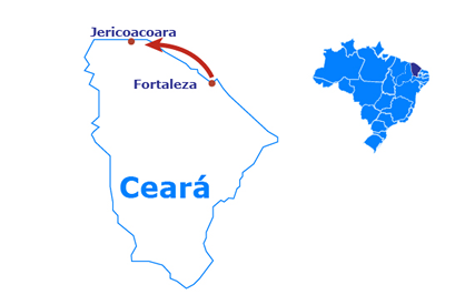 Mapa Jericoacoara - 5 jours et 4 nuits