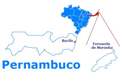 Mapa Fernando de Noronha