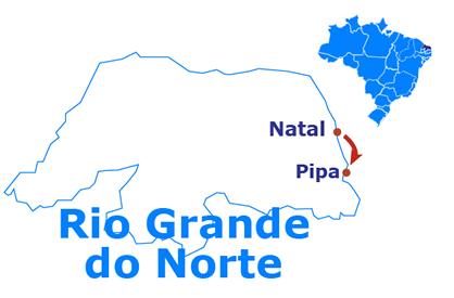 Mapa Natal et Pipa