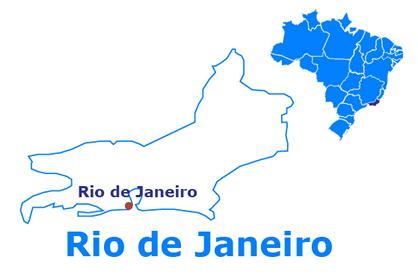 Mapa Rio de Janeiro - Rio de Janeiro