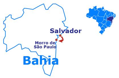 Mapa Morro de São Paulo - 5 days and 4 nights